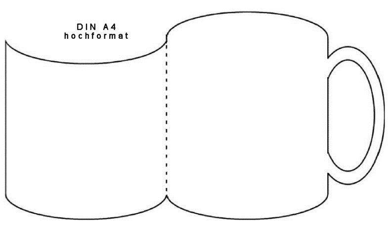 Открытка кружка из бумаги своими руками