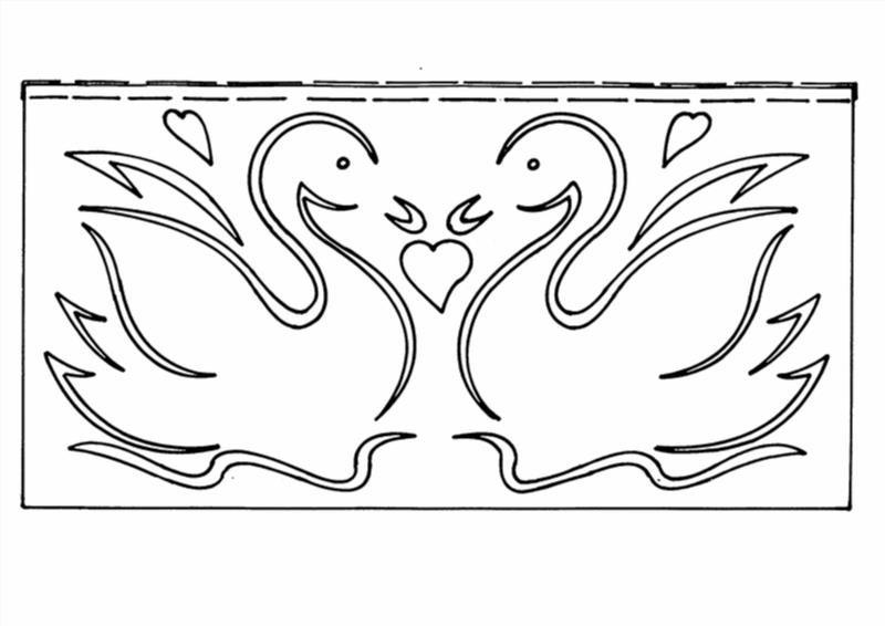 Трафареты для декора своими руками шаблоны лебедь 114