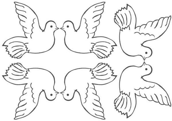 Голубь мира своими руками шаблоны распечатать 35