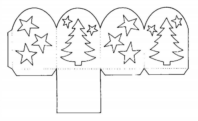 Объёмные новогодние украшения из бумаги шаблоны