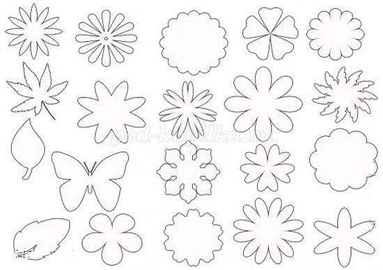 Открытки цветы из бумаги картинки