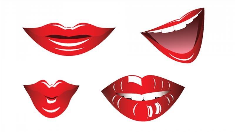 Шаблон губ для вырезания из бумаги: скачать и распечатать