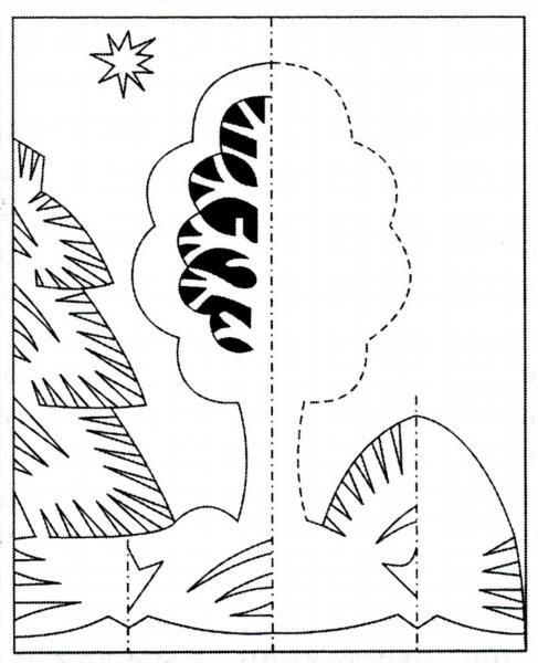 Трафареты деревьев своими руками шаблоны 880