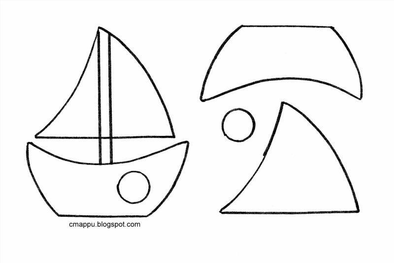Макет кораблика для открытки 13