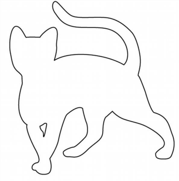Трафареты с кошками своими руками 44