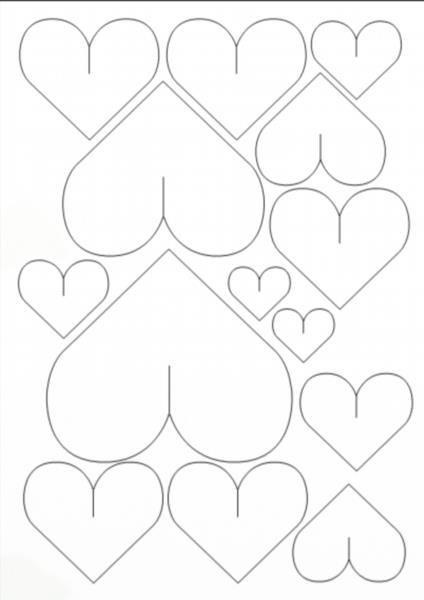 Сердечки  из бумаги шаблоны 82