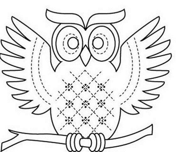 Рисунок совы для поделки 36