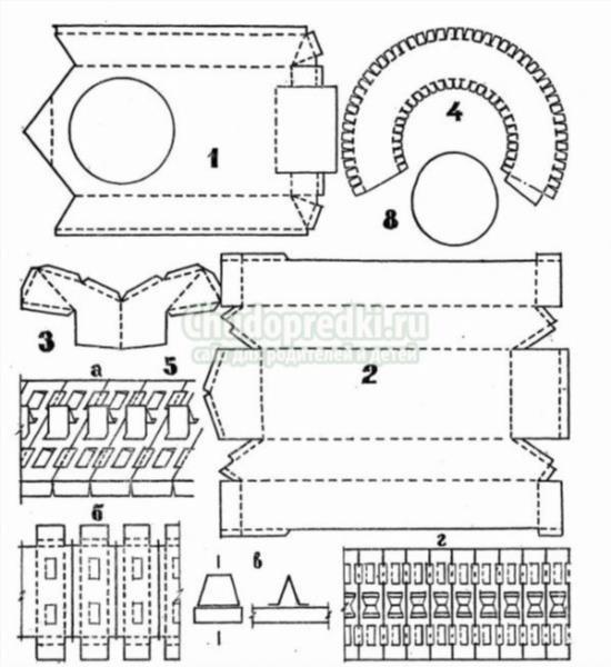 Поделки из бумаги схема танк