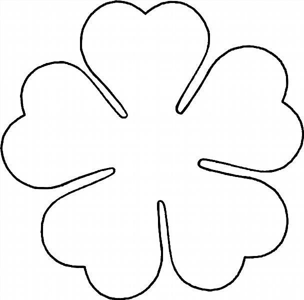 Рисунок для вырезания цветок