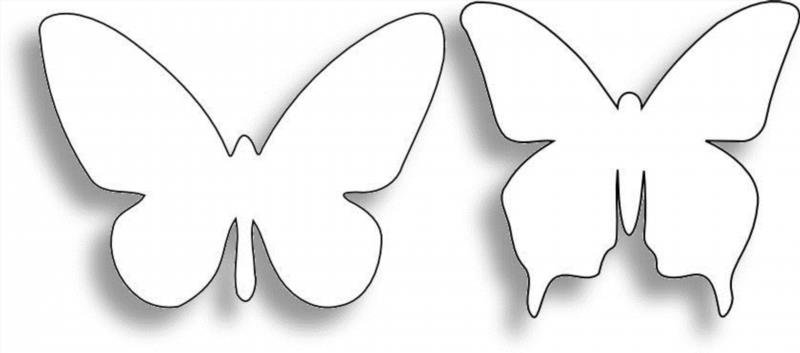 Шаблоны и трафареты бабочек своими руками