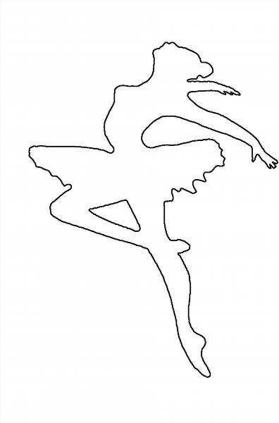 Вырезать из бумаги балерину схемы