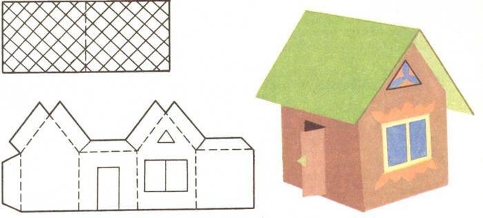 Макет домов из бумаги