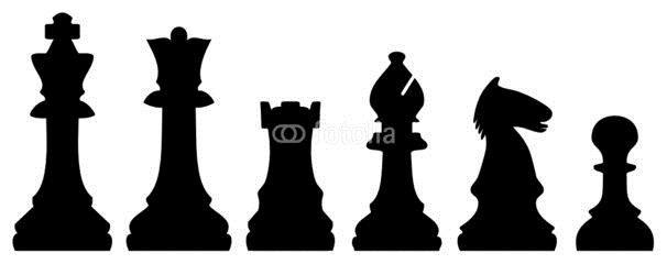 Картинки шахматные фигуры для детей раскраски