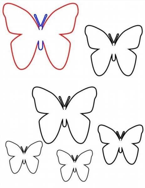 Схема вырезания бабочек