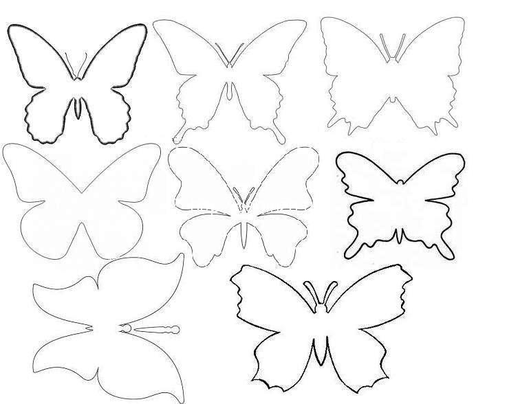 Бабочки декор на стену своими руками трафарет