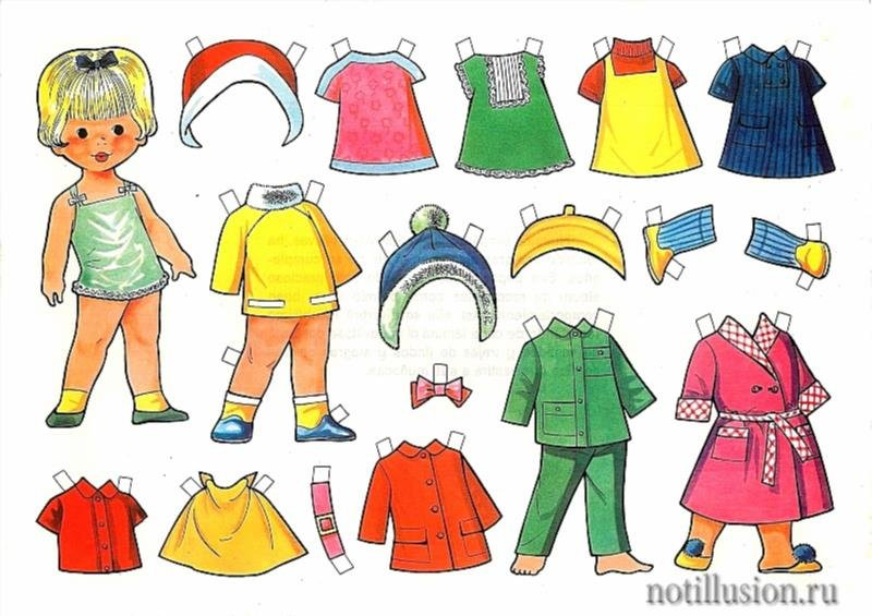 Картонные куклы с одеждой шаблоны