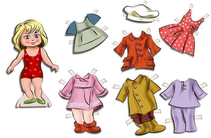 знакомство с одеждой для детей