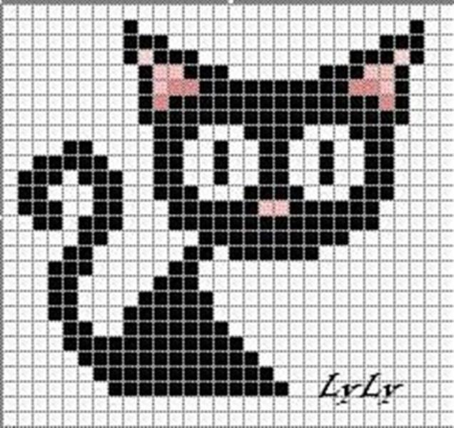 Раскраски для девочек кошку