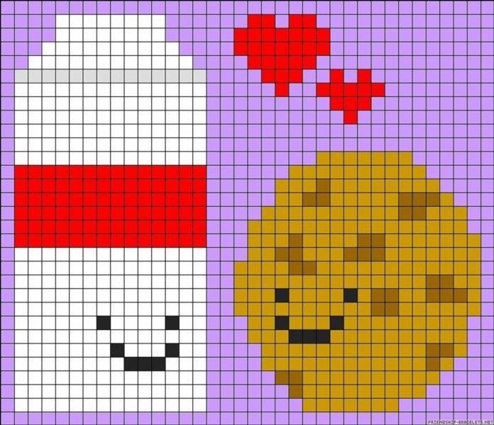 Вышивка крестиком схемы по клеточкам картинки: маленькие и