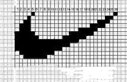 Рисунок по клеточкам в тетради найк