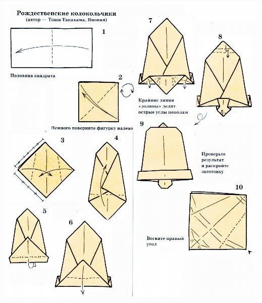 Как сделать из бумаги колокольчик своими руками