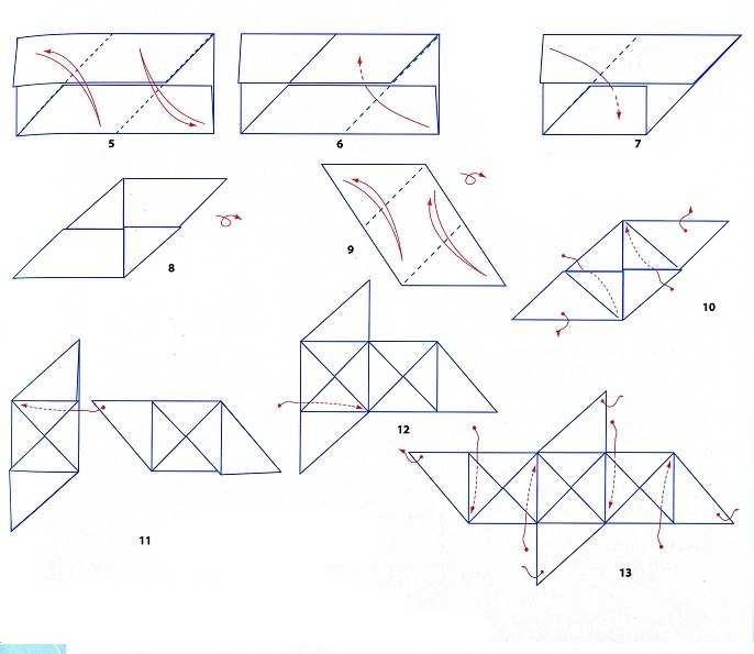 Оригами елочка из бумаги схема для детей фото 275