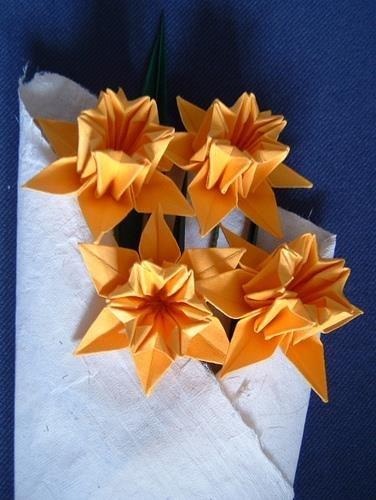 Схема оригами нарцисс
