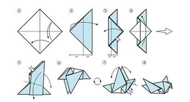 Оригами в мире схема