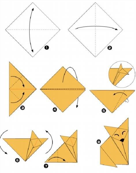 Как сделать оригами животных видео