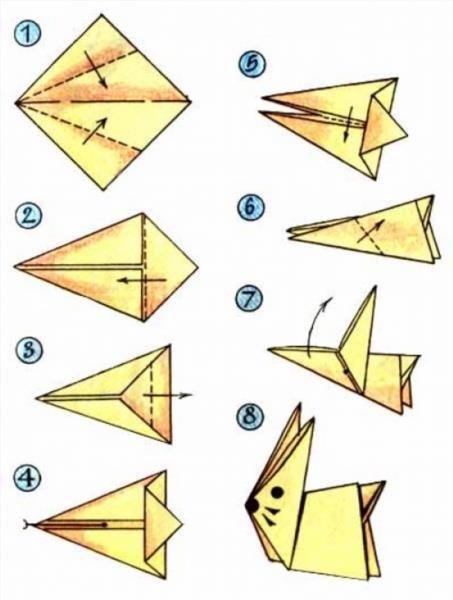Голубь мира оригами схема фото 498
