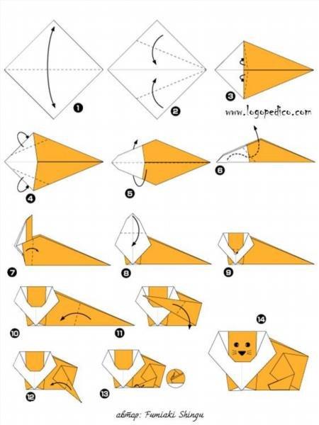 Как сделать из бумаги оригами для начинающих животные