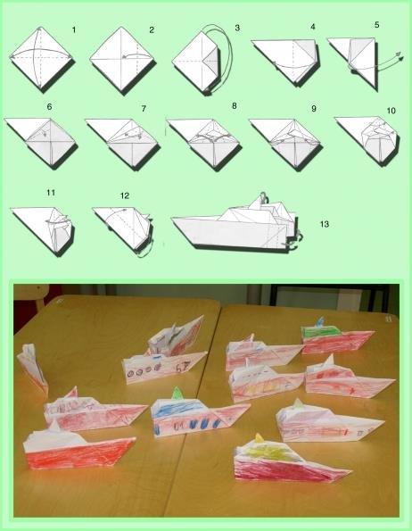 лодка из бумаги пошаговая инструкция