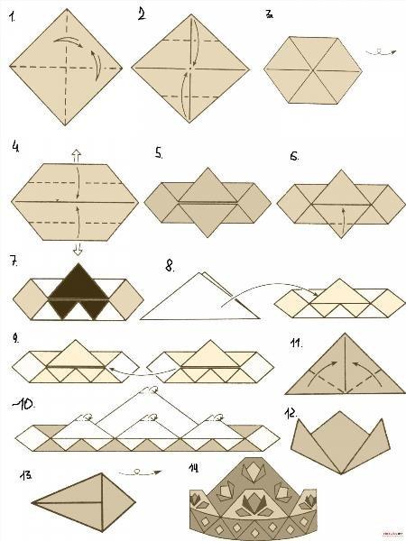 Как сделать книжку оригами из бумаги 318