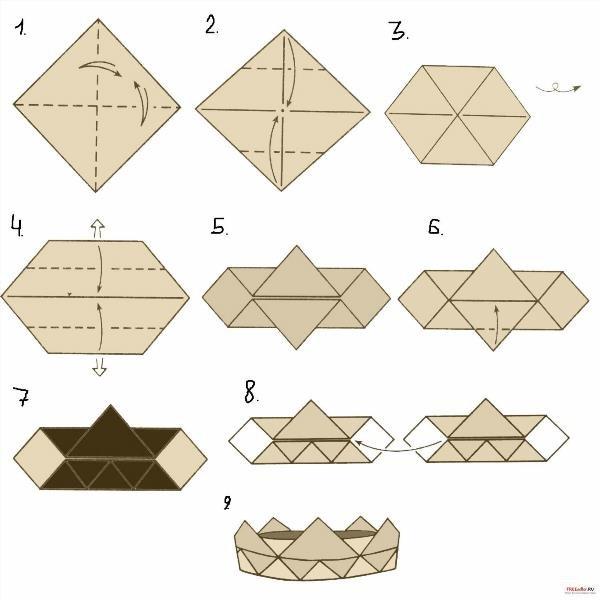 Как сделать книжку оригами из бумаги 258
