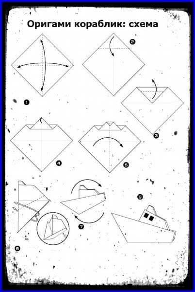 Как сделать из бумаги схема