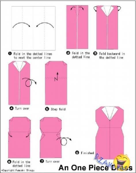 Как сделать платье из бумаги инструкция на человека