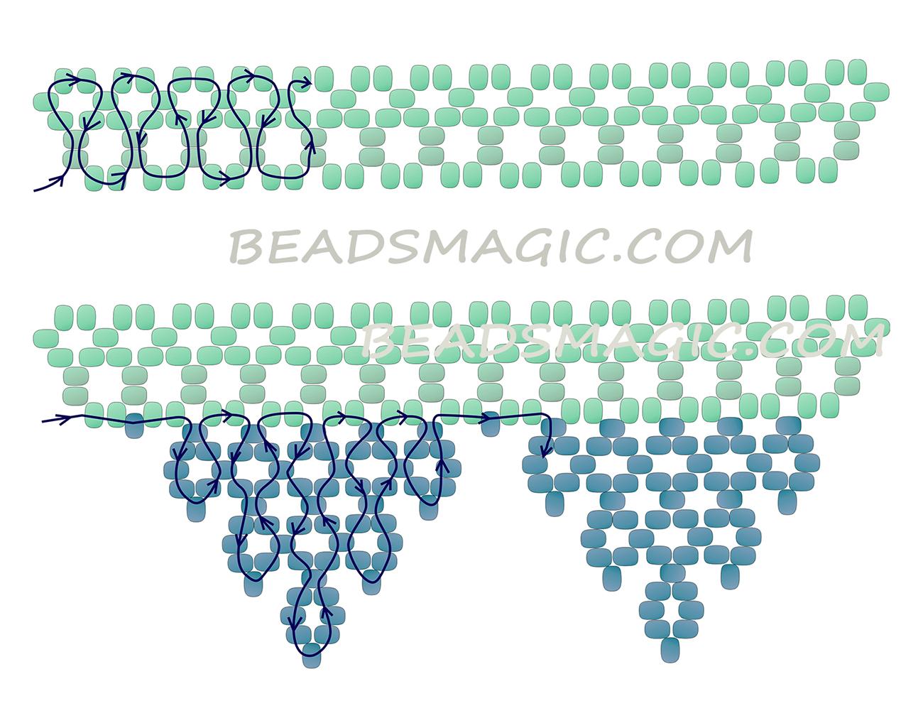 Ажурные ожерелья из бисера