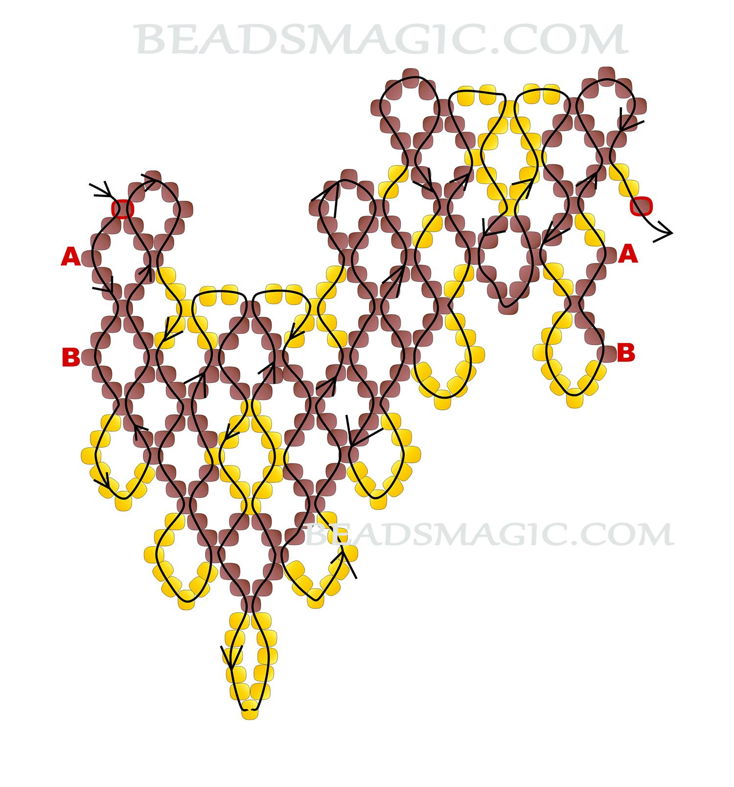 Колье из бисера схема плетения с пошаговым фото