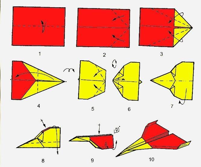 Как из оригами сделать самолет из бумаги