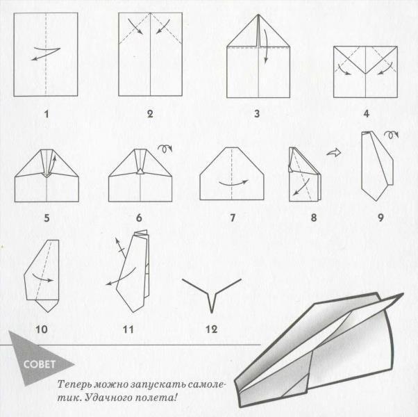 Как сделать оригами самолет истребитель из бумаги: схемы