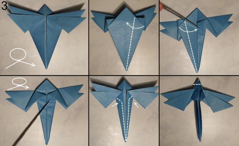 Как сделать оригами стрекоза фото 385