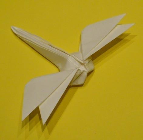 Как из бумаги сделать стрекозу