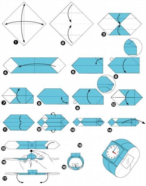 Как сделать из бумаги часы фото 777
