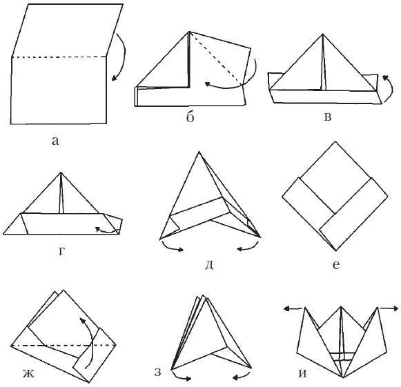 Как сделать голубя из бумаги оригами схема фото 706