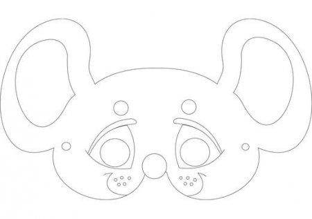 Новогодняя маска мышки своими руками из бумаги