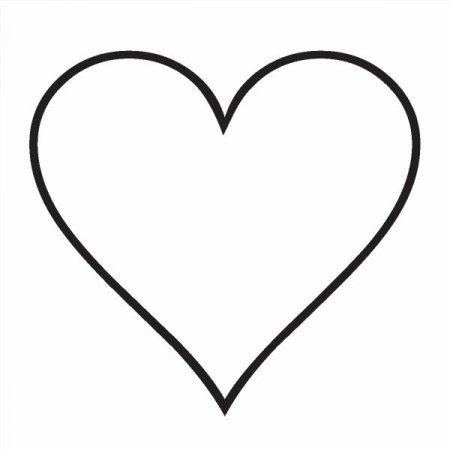 образец сердечка для вырезания