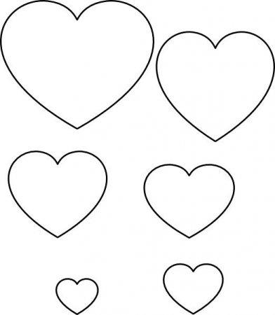 Макет сердечко из бумаги 3