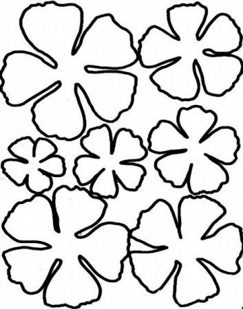 Трафареты для вырезания цветы