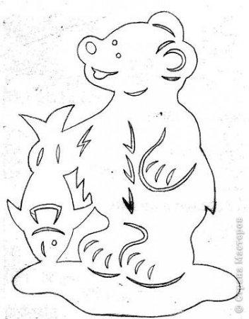 Вытынанки животные шаблоны и схемы