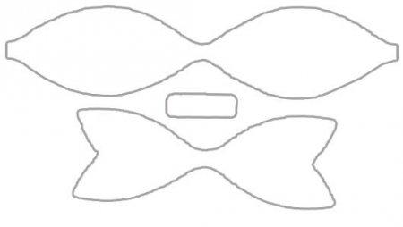 Схема пончика из бумаги